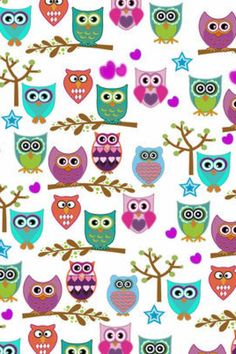 Owls Vintage Flowers Wallpaper, Owl Wallpaper, Flower Wallpaper, Iphone Wallpaper, Owl Clip Art, Owl Art, Owl Patterns, Embroidery Patterns, Machine Embroidery