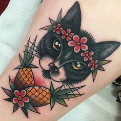 Traditional American style tattoo by Jeroen Van Dijk. #JeroenVanDijk #Amsterdam…