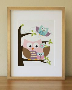 Owl art for nursery