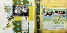 kelly goree.  love the flowers on a boy layout