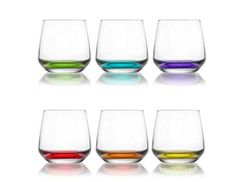 6 PC Colored Glass Cup Set #LAL361