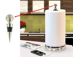 Paper Towel Holder And Charger - affiliate link