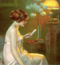 by Delphin Enjolras: my favorite. ✉ Biblio Beauties ✉ paintings of women reading letters & books - artist unknown