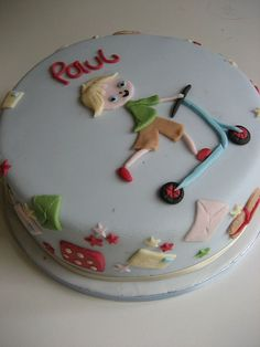 little boy birthday cakes   Little boys scooter birthday cake   Flickr - Photo Sharing!
