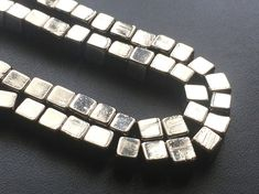 Natural Pyrite Cube Beads Natural Pyrite Plain by gemsforjewels