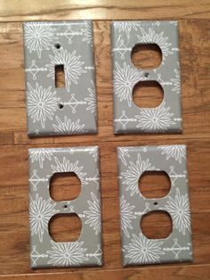 Grey light cover, Grey outlet cover set, wall decor, girls room decor, light switch cover, light switch plate, light switch cover