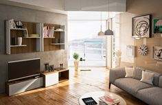 Modern Living Room Wall Units With Storage Inspiration Living Room Decor On A Budget, Paint Colors For Living Room, Cozy Living Rooms, Living Room Modern, Living Room Designs, Living Room Wall Units, Bookshelves In Living Room, Coffe Table Design, Floor Design