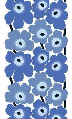 Marimekko Marimekko Unikko Fabric Blue/White - KIITOSlife - 1