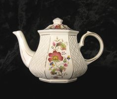 Vintage Sadler Octagonal 4-5 Cup Teapot with Embossed Panels and Floral Decoration by TheWhistlingMan on Etsy