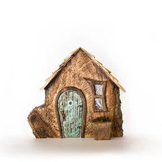 Sleepy Dwarf Blue Fairy, Tree Trunks, Fairy Houses, Dwarf, Bird, Outdoor Decor, Home Decor, Homemade Home Decor, Decoration Home