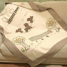 Baby blanket I made – Breastfeeding Lactation Recipes, Hospital Bag, Breastfeeding Tips, Baby Feeding, New Moms, Cross Stitch Embroidery, Applique, Blanket, Children
