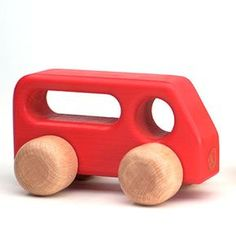 Wooden Toy Cars and Trucks
