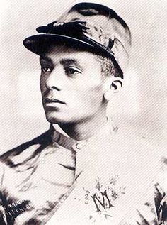 Isaac Murphy, first African American to win the Kentucky Derby three times. My, what fine cheekbones he had!