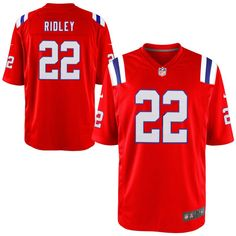 stevan ridley new england patriots nike youth alternate game jersey red