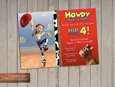 Jesse Toy Story Birthday Party Invitation by LittleOwlBows on Etsy, $15.00