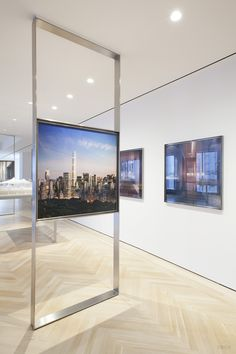 Our 432 Park Avenue sales gallery design. Home Room Design, House Design, Design Design, Interior Design Living Room, Living Room Designs, Deco Tv, 432 Park Avenue, Tv Feature Wall, Casa Milano
