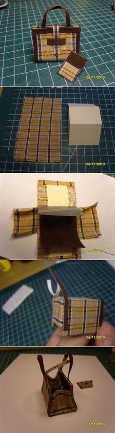 miniature doll handbag tutorial.