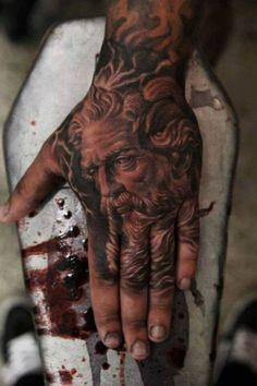 A new take on the hand tattoo has really taken off in the industry—tattooing the whole hand. Normally what we consider to be a hand tattoo will stop around the knuckles, these tattoos go all the wa...