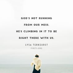 We can be anxious for nothing because we know that our God sees us, that he is for us and that he is in control. So thankful for this truthful reminder