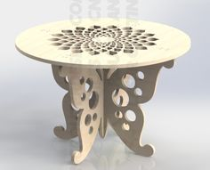 Design Template For CNC Router or Laser Cutting Aspire ArtCAM VCarve DXF File 059 Wood Carving Patterns, Cnc Table, Plywood Table, Cnc Router Table, Diy Cnc Router, Cnc Woodworking, Woodworking Basics, Router Projects, Easy Wood Projects