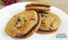 Sanduíche de cookies e brigadeiro - Amando Cozinhar - Receitas, dicas de culinária, decoração e muito mais!
