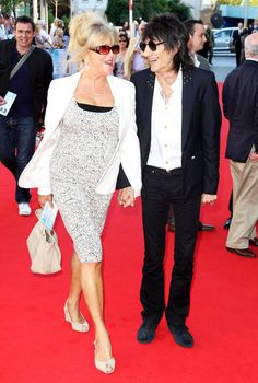 Pattie Boyd and Ronnie Wood attend the UK premiere of George Harrison: Living In The Material World at The BFI Southbank on October 2, 2011 in London, United Kingdom.