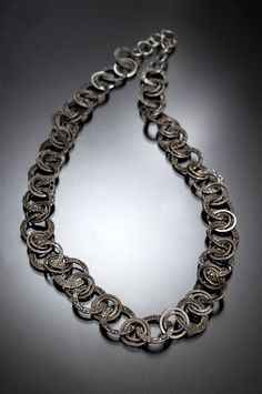 Bead Show: Bead Show Workshops & Classes: Thursday June 6, 2013: B131539 Elegance: PMC and Fine Silver Necklace
