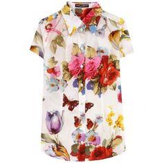 Dolce & Gabbana Sheer Floral Print Blouse | Tokyo