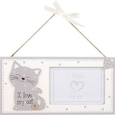 I LOVE MY CAT GREY CREAM WOODEN HANGING WALL PHOTO FRAME 12X24X09CM ** You can find out more details at the link of the image. (This is an affiliate link and I receive a commission for the sales)