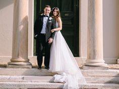 #Wedding dress ideas: Bride wears a Joseph Sayadi dress from Amarige Bridal Couture, Leichhardt. #Groom wears tuxedo