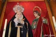 LA SEMANA SANTA EN ARAHAL: Virgen de las Angustias de la Hermandad de la Esperanza de luto 2014