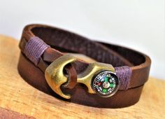 FREE SHIPPING Men's leather braceletMen's