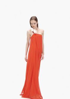 Vestido largo de seda Lanflo- Etxart&Panno Online