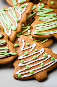 Photo about Gingerbread cookies decorated with green and white. Image of background, decoration, good - 12251959 Homemade Ornaments, How To Make Ornaments, Gingerbread Cookies, Christmas Cookies, Hungarian Recipes, Hungarian Food, Fermented Foods, Cookie Jars, Xmas