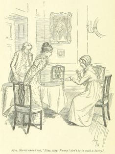 Norris called out, Stay, stay, Fanny! don't be in such a hurry Jane Austen Mansfield Park, Victorian Illustration, Love Illustration, Book And Magazine, Magazine Art, Human Sketch, Jane Austen Novels, Classic Literature, Ink Pen Drawings
