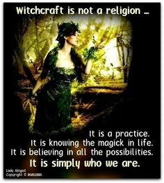 "yes, please. stop calling witchcraft or paganism ""a religion""."