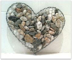 DIY Srdce vytvorene z kamenov 1
