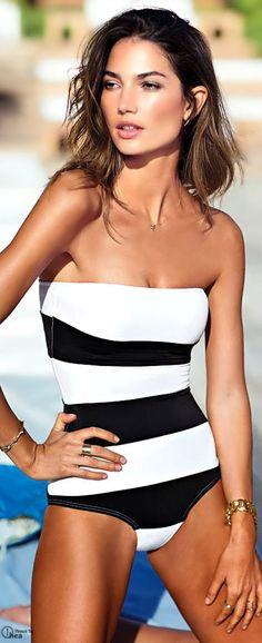 5585be1a47 Lily Aldridge for VS Swimwear