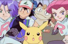 """Sacha • Pikachu et la Team Rocket """"Tous Ensemble"""" ~ Pokémon ~ [MangAnime] ~ [✨GiF✨]"""
