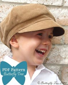 Newsboy Hat Sewing Pattern  Reversible - so adorable!