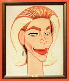 Lauren Bacall caricature from Sardi's restaurant in New York