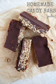 Paleo friendly chocolate candy bars