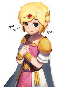 @mmimmzel fanart: Link can cross-dress as Zelda in the new Legend of Zelda #TriForceHeroes for Nintendo 3DS