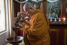 His Holiness the Dalai Lama's visit to Deyang Monastery in Mundgod, Karnataka, India on December 17, 2016.