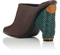 Balenciaga Contrast-Heel Leather Mules - Sandals - 504891039