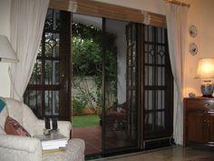Screen doors screens and french door screens on pinterest - Mosquito net door designs ...