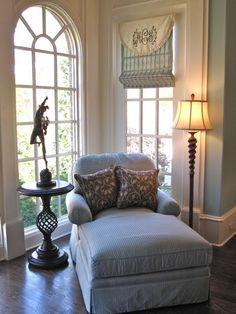 beautiful monogrammed window treatment