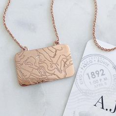 The Map Necklace: It's where you've been. It's where you are. It's where you are going next. Select any address in the world and let a diamond mark the moment that changed everything. #MapYourMoment