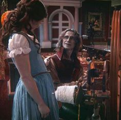 His look and her touch!! It's ridiculous how happy a picture can make me Once Upon A Time Rumbelle
