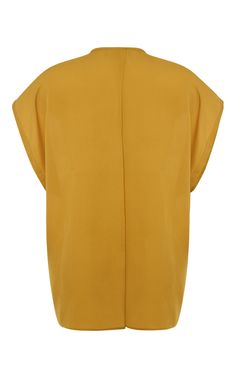 Pebble Georgette Sleeveless Shirt In Mustard by Tome Now Available on Moda Operandi